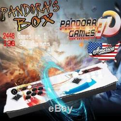 2448 Games In 1 Pandora's Box 3D Retro Video Games Arcade Console 2 Player Home