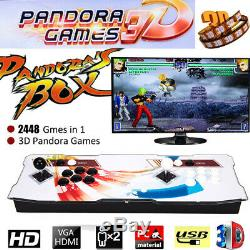 2448 In 1 Pandora's Box 3D Double Stick Arcade Console WIFI download games Video