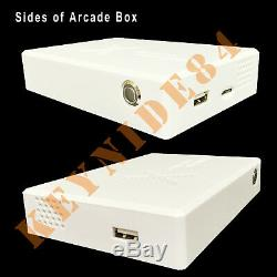3160 Games Pandora Treasure Mini Street Arcade Box with Wired Handle Controllers