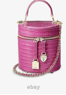 ASPINAL OF LONDON Pandora crocodile-embossed leather bag New With Tag