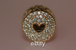 AUTHENTIC NEW PANDORA14k gold HEART OF LUXURY CLIP 757557CZ BOX TAG $450