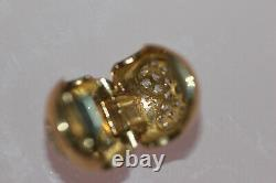 AUTHENTIC NEW PANDORA14k gold LOVE OF MY LIFE CLIP 750832CZ BOX TAG $450
