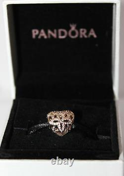 AUTHENTIC NEW PANDORA 14k GOLD 750837 LOVE AND APPRECIATION With LEATHER BOX $375