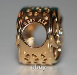 AUTHENTIC NEW PANDORA 2016 14k gold Loving Bloom 750598cz withbox &gift packaging