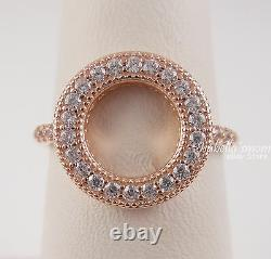 Authentic HEARTS OF PANDORA HALO Rose GOLD Plated Circle Ring 5/50 NEW in BOX