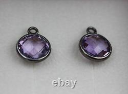 Genuine Pandora SS Amethyst Elegance Compose Earrings 290662PAM withBox Shown