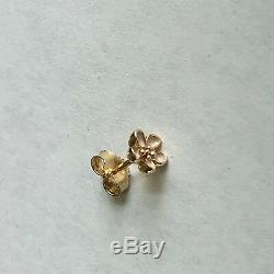 NEW! Authentic Pandora 14K Gold Cherry Blossom Stud Earrings #250318EN40 withBox