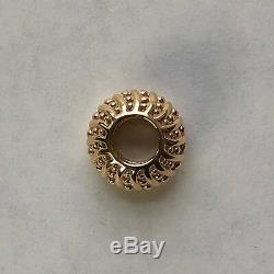 NEW! Authentic Pandora 14K Gold mystic Serenity Spacer #750824 with Box