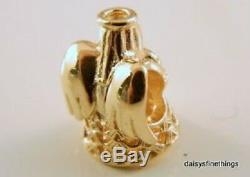 NEWithTAGS AUTHENTIC PANDORA 14K GOLD CHARM ANGEL OF GRACE #750999 HINGED BOX