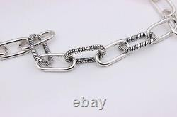 New 2020 Authentic PANDORA ME Link Silver Chunky 17.7 Necklace 399001C00 w BOX