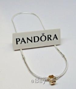 New Pandora 14Kt GOLD Clasp 45 CM Silver 17.8 Collier Necklace with Box #590703HG