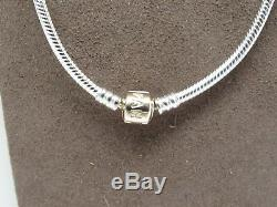 New Pandora 14Kt GOLD Clasp 50 CM Silver 19.7 Collier Necklace with Box #590703HG