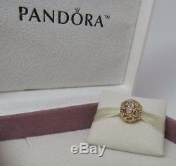 New Pandora 14kt Gold Open Your Heart withHinged Box 750964 Love Hearts
