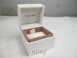 New Pandora Golden Flower withHinged Box 14Kt Gold Charm Clip #750507