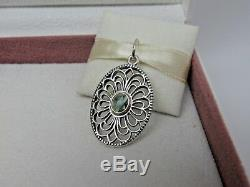 New wHinge /Box Pandora Vintage Allure Green Spinel Pendant ONLY 390348SSG