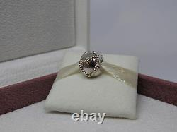 New withBOX Pandora Braided Heart with Gold Charm Clip 790599 FREE CLIP GROMMET