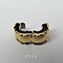 New withBox Pandora 14 Kt Gold Beveled Charm Clip 750256 RETIRED 585
