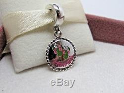New with Box Pandora Hawaii Flip Flop withFlowers Dangle Enamel Charm Exclusive
