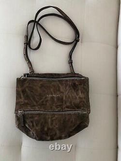 New with tags Givenchy Mini Pandora Bag Gray Leather