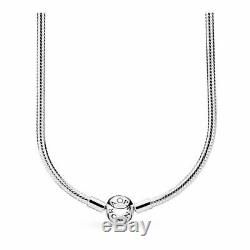 PANDORA Moments Snake Chain Necklace 590742HV S925 ALE with Box + Gift Bag