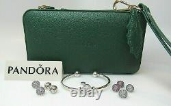 Pandora Open Bangle Gift Set w Charm & All Changeable Ends Gift Box $575 Ret