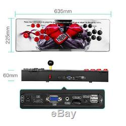 Pandora's Box 12 3188 in 1 Games 2 Stick Retro Console 3D VGA Support Laptop Red