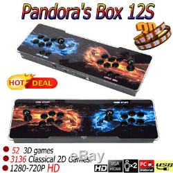 US 3188 in 1 3D Pandora's Box 12S Arcade Video Games Double Stick Arcade Console