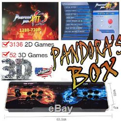 US Pandora Box 12S 3188 In 1 Classic Games 3D & 2D Games Home Arcade Console YJ